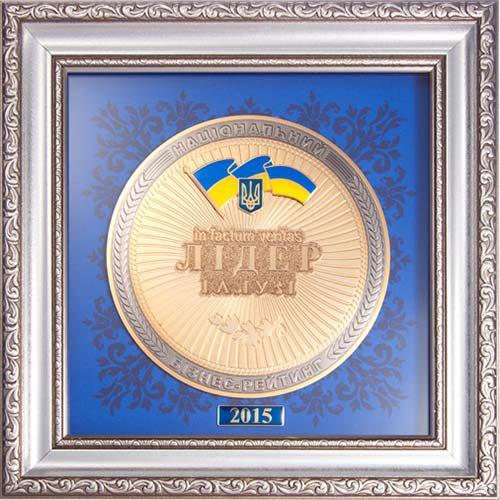 Медаль Лідер галузі 2015 (фото)